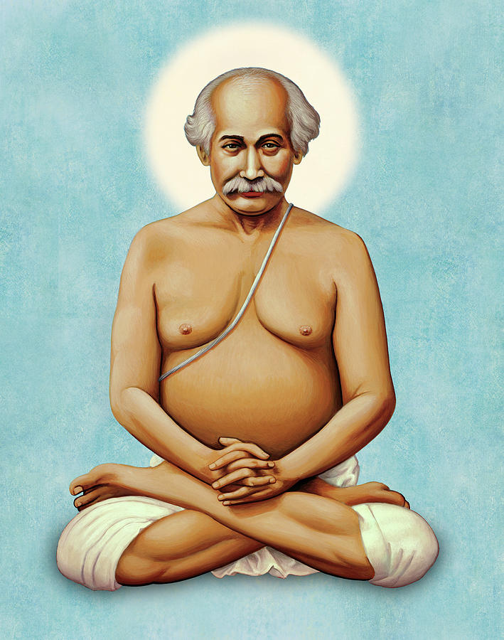 Lahiri Mahasaya On Blue by Sacred Visions