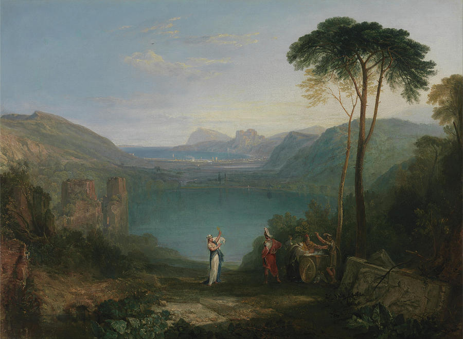 Lake Avernus Aeneas and the Cumaean Sybil by Joseph Mallord William Turner