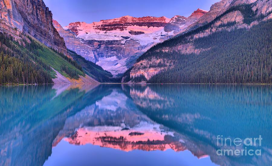 Lake Louise Summer Sunrise Panorama by Adam Jewell