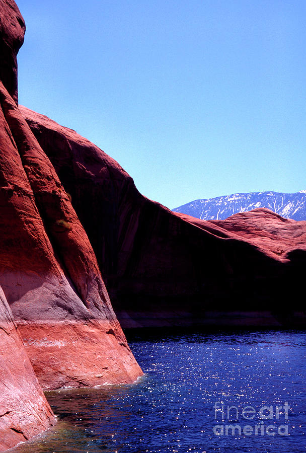 Lake Powell and Navajo Mountain by Thomas R Fletcher