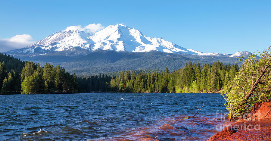 Lake Siskiyou and Mt Shasta by Ken Brown