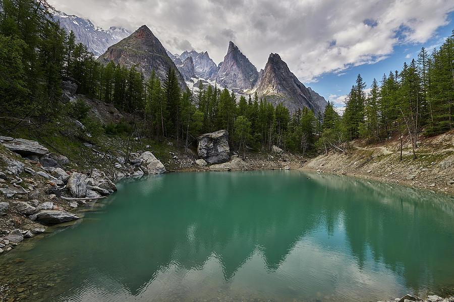 Lago Verde Photograph - Lake Verde In The Alps by Jon Glaser