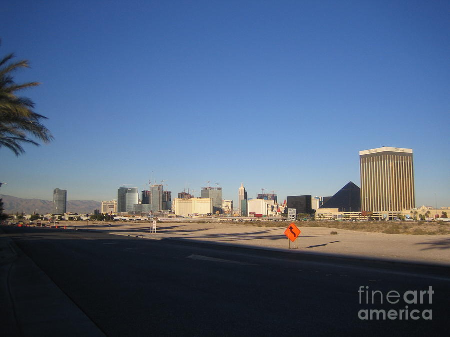 Las Vegas Hotels Detour View Casino Buildings Hotels Street Cars Scene Las Vegas Blvd 2008 by John Shiron