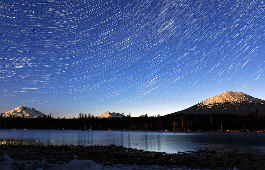 Lava Lake Star Trails by Cat Connor