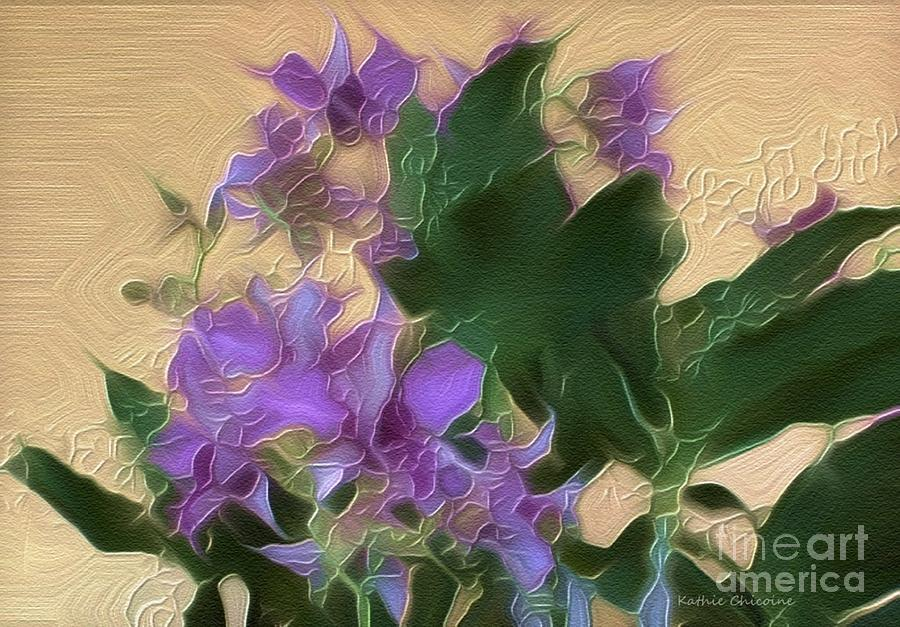 Lavender Orchids by Kathie Chicoine