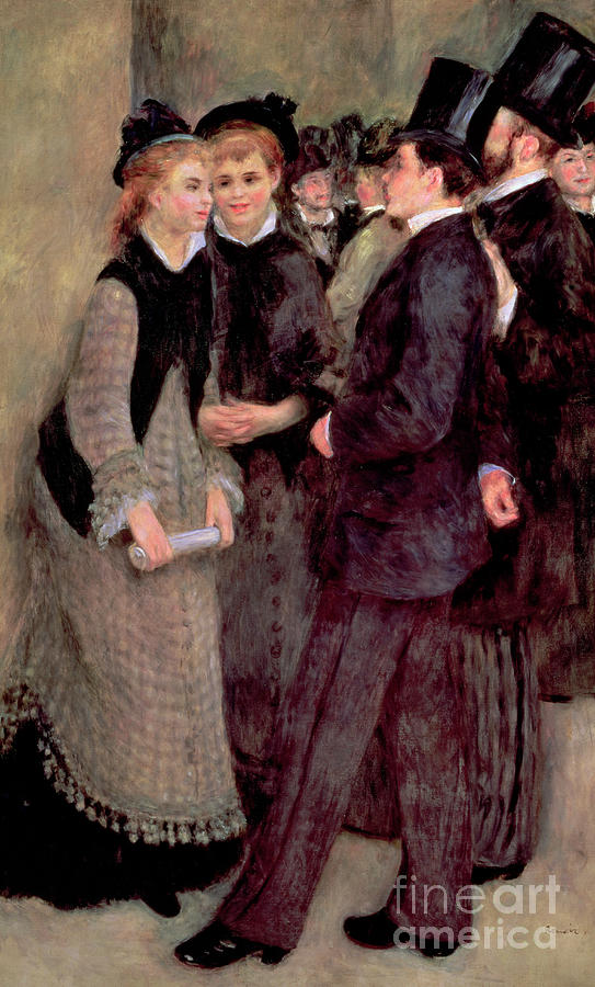 Renoir Painting - Leaving The Conservatory by Pierre Auguste Renoir