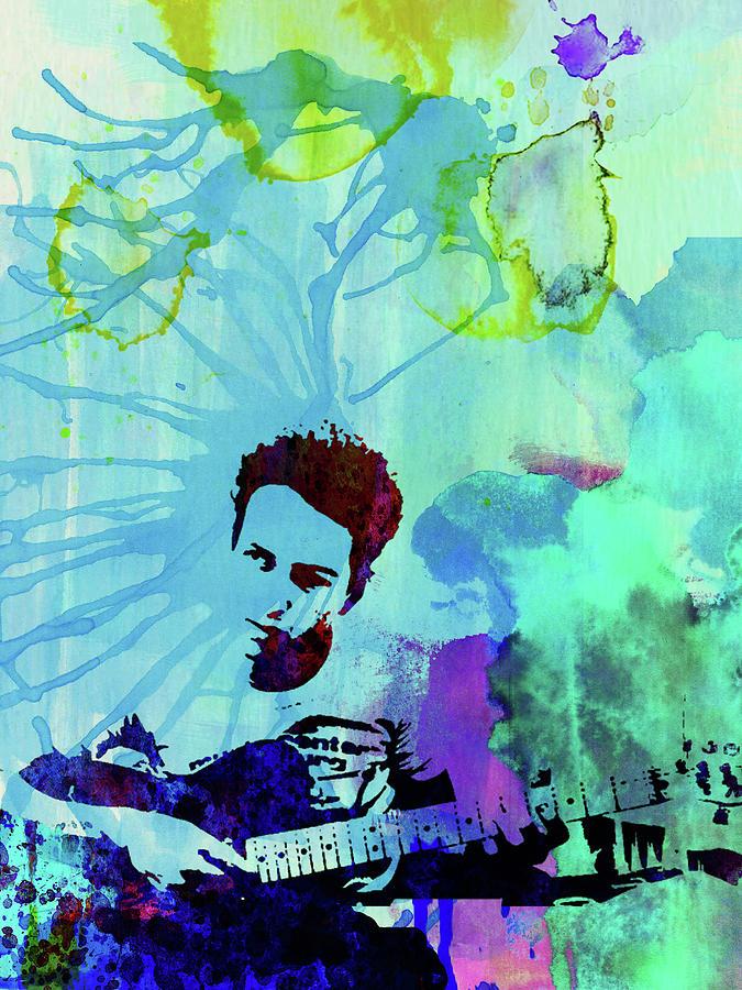 Joe Strummer Mixed Media - Legendary Joe Strummer Watercolor by Naxart Studio