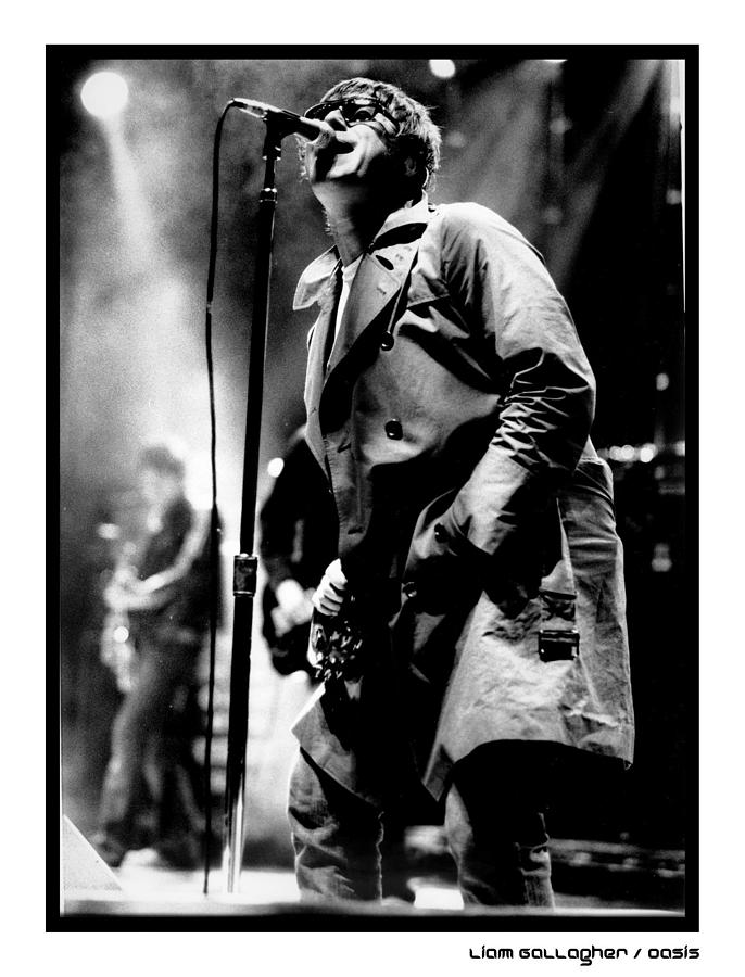 Liam Gallagher Of Oasis Performing Photograph by Stephen Albanese