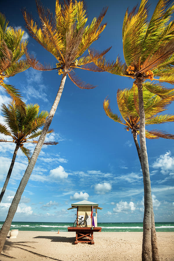 Lifeguard Post In Fort Lauderdale Miami Photograph by Pgiam