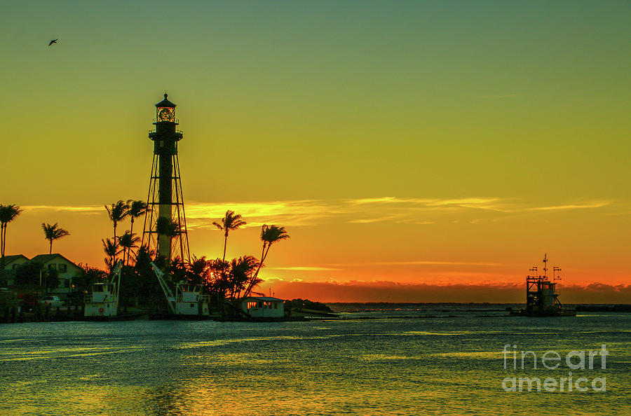 Lighthouse and Morning Sky by Tom Claud