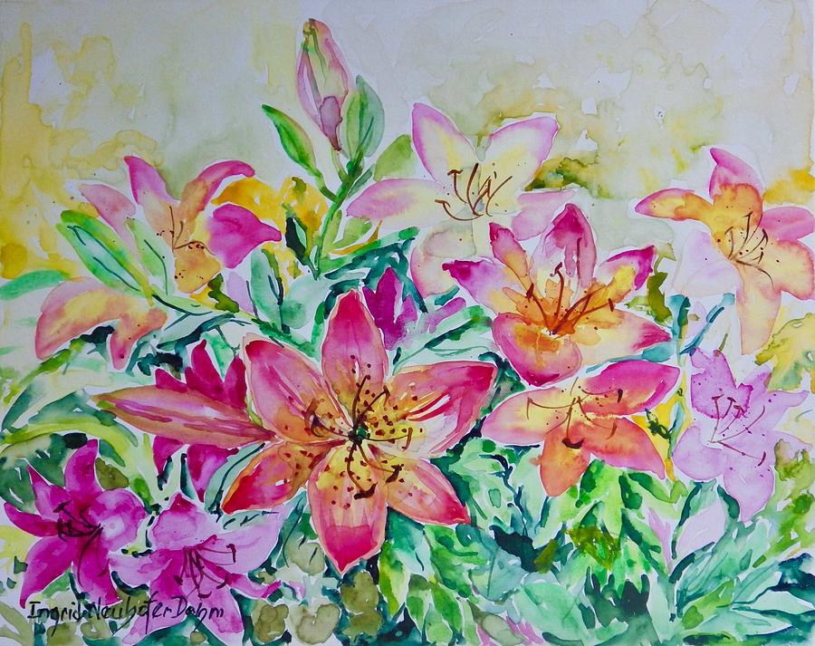 Lilies by Ingrid Dohm