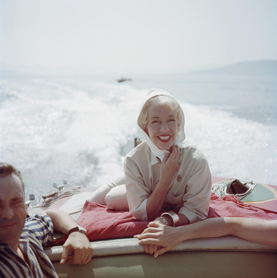 Lily On The Riviera Photograph by Slim Aarons