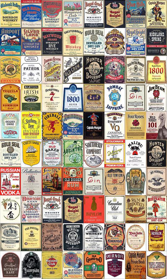Liquor Label Art by Max Huber