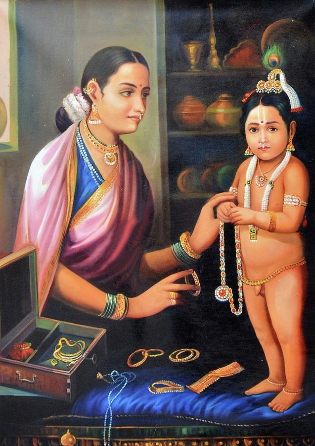 1 little krishna with her mother vishal gurjar