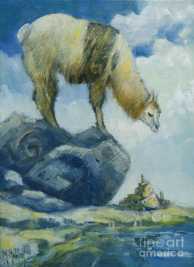 Llama and the Castle by Mary Hubley