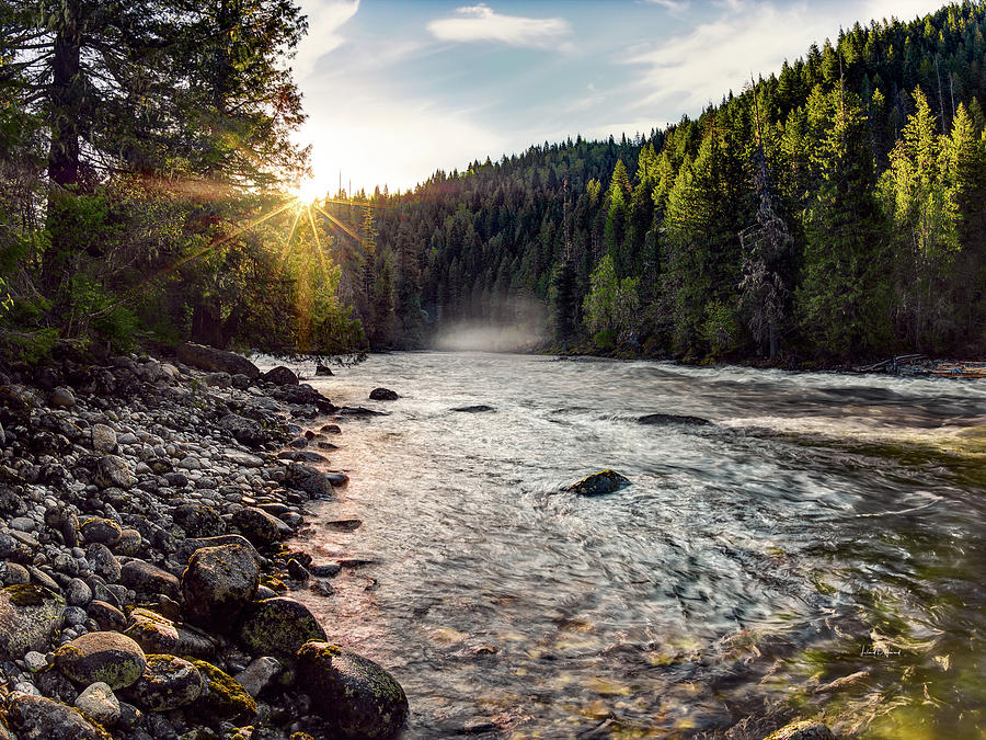 Nature Photograph - Lochsa Sunrise by Leland D Howard