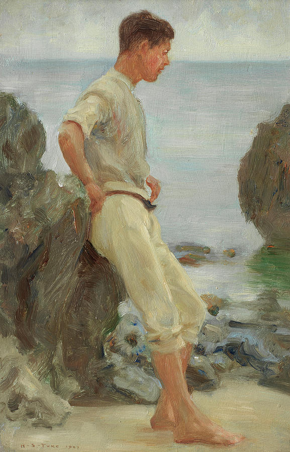 Henry Scott Tuke Painting - Looking Out To Sea by Henry Scott Tuke
