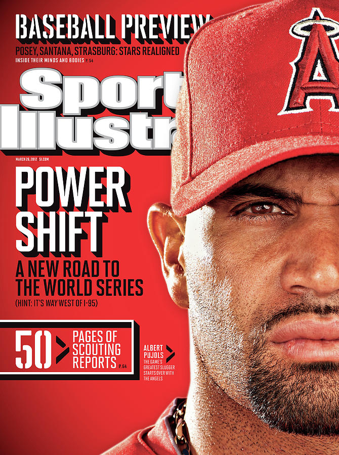 Los Angeles Angels Of Anaheim Albert Pujols, 2012 Mlb Sports Illustrated Cover Photograph by Sports Illustrated
