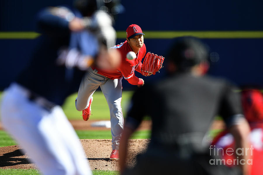 Los Angeles Angels Spring Training Photograph by Masterpress