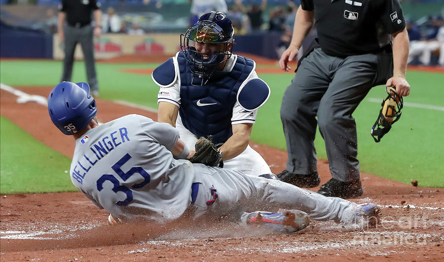 Los Angeles Dodgers V Tampa Bay Rays 1 Photograph by Mike Carlson
