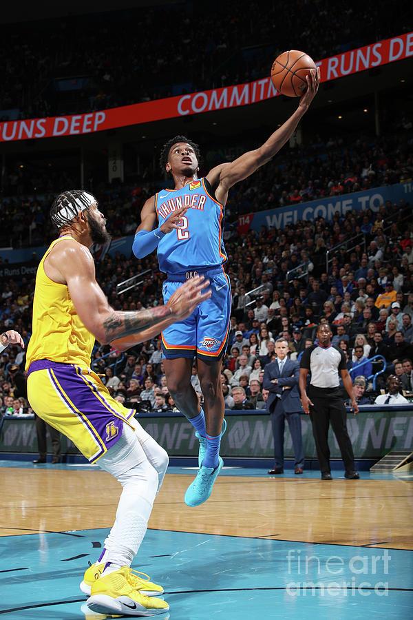 Los Angeles Lakers Vs Oklahoma City Photograph by Zach Beeker