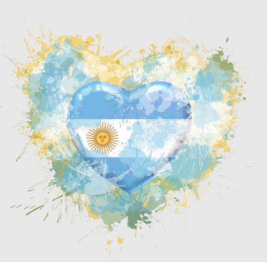 Love Digital Art - Love Argentina by Alberto RuiZ