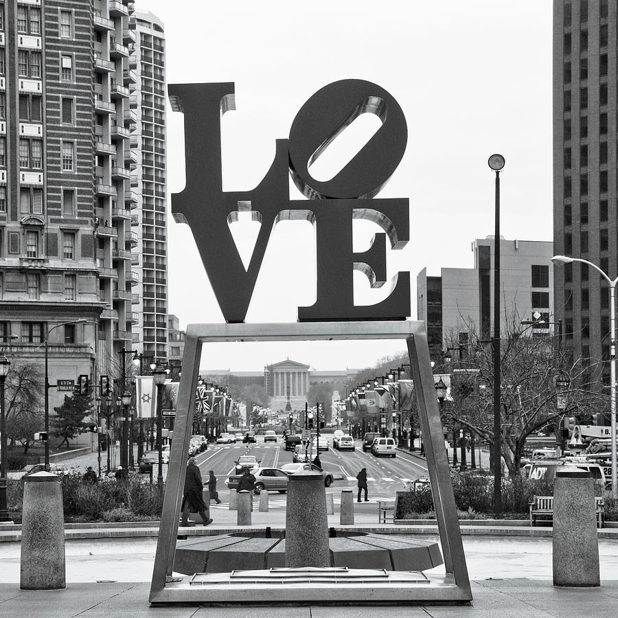 Urban Scenes Mixed Media - Love by Erin Clark
