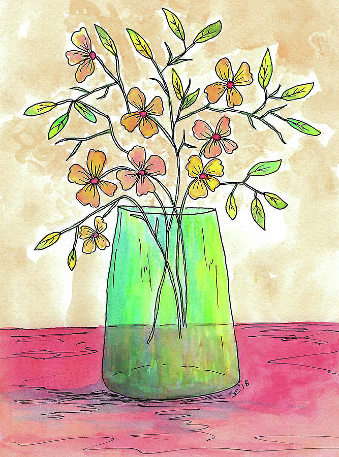 Lovely Vase of Flowers by Susan Campbell