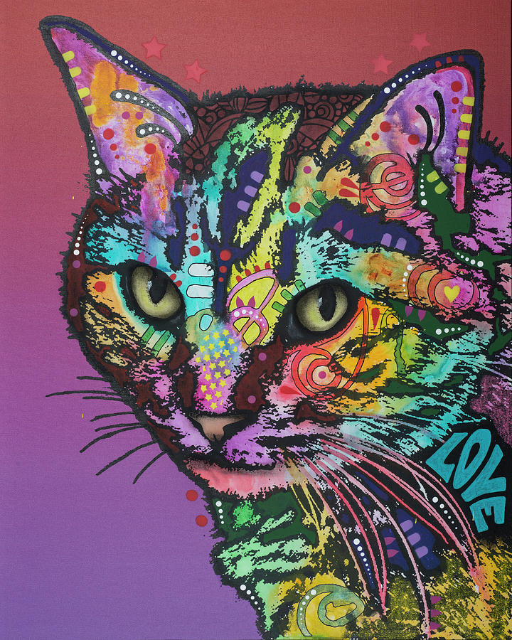 Domestic Cats Mixed Media - Lucy by Dean Russo