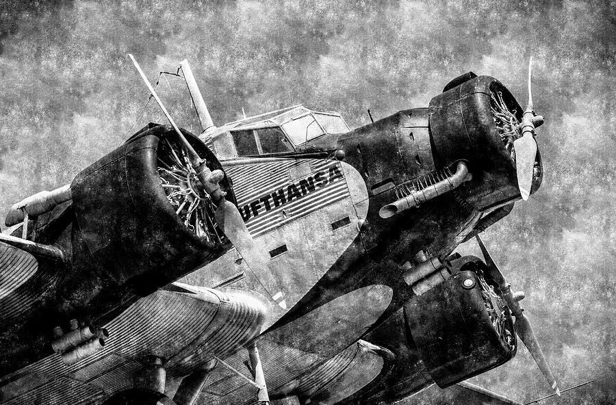 Junkers Ju 52 Photograph - Lufthansa Junkers Ju 52 Vintage by David Pyatt