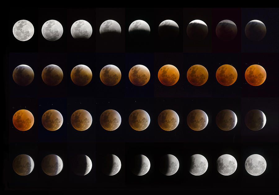 Moon Photograph - Lunar Eclipse by Chechi Peinado