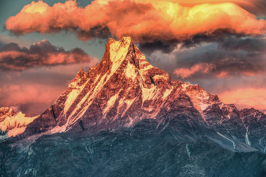 Tranquility Photograph - Machapuchare Mountain, Fish Tail In by Emad Aljumah