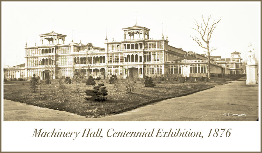 Machinery Hall, Centennial Exhibition, 1876 by A Gurmankin
