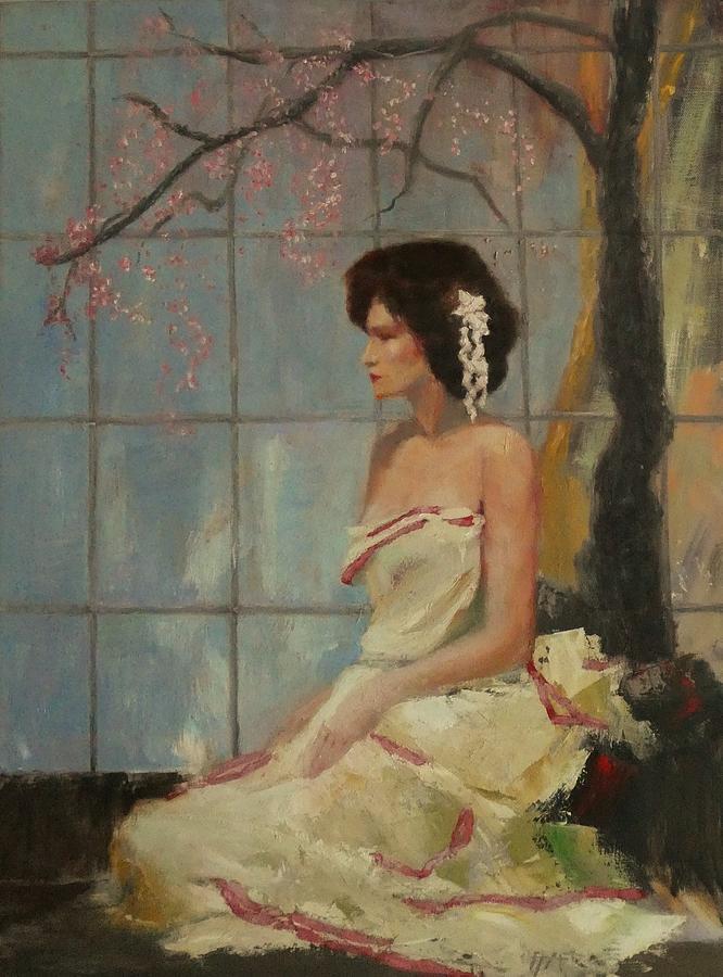 Girl Painting - Madama Butterfly by Irena Jablonski