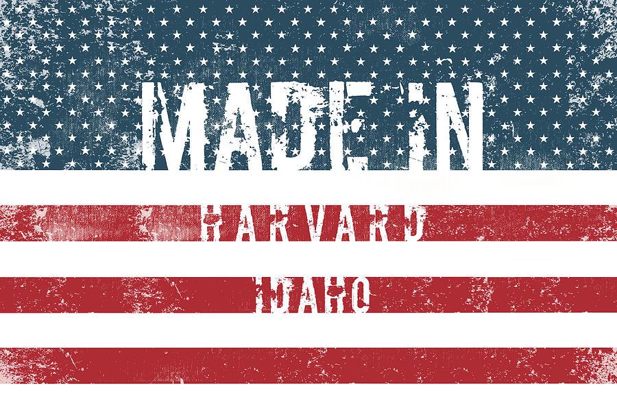 Harvard Digital Art - Made In Harvard, Idaho by Tinto Designs