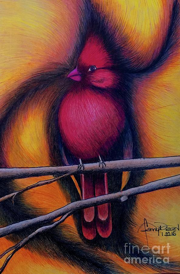 Male Cardinal by FANNY DIAZ