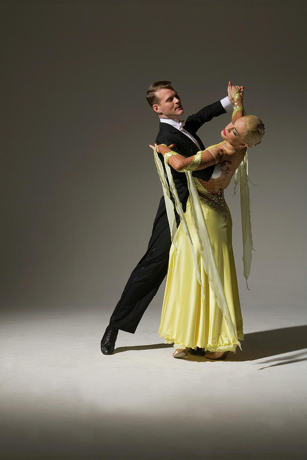 Man And Woman Ballroom Dancing Photograph by Pm Images