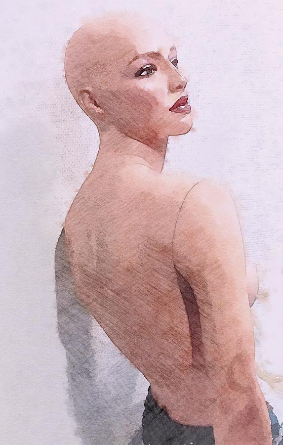 Mannequin Painting - Mannequin by Steve K