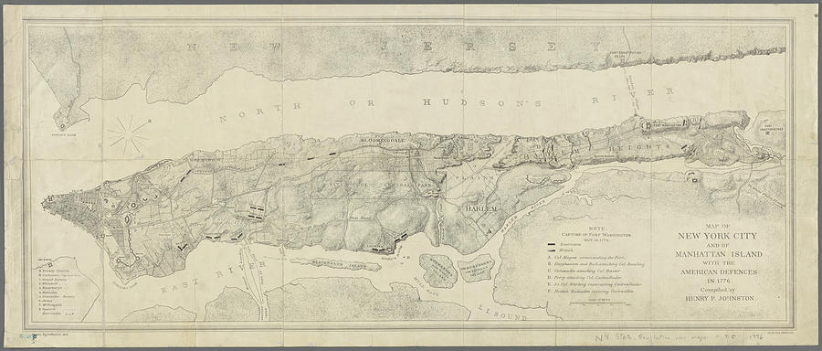 Map Of New York 1776.Old Map Of Manhattan New York City 1776 By Dusty Maps