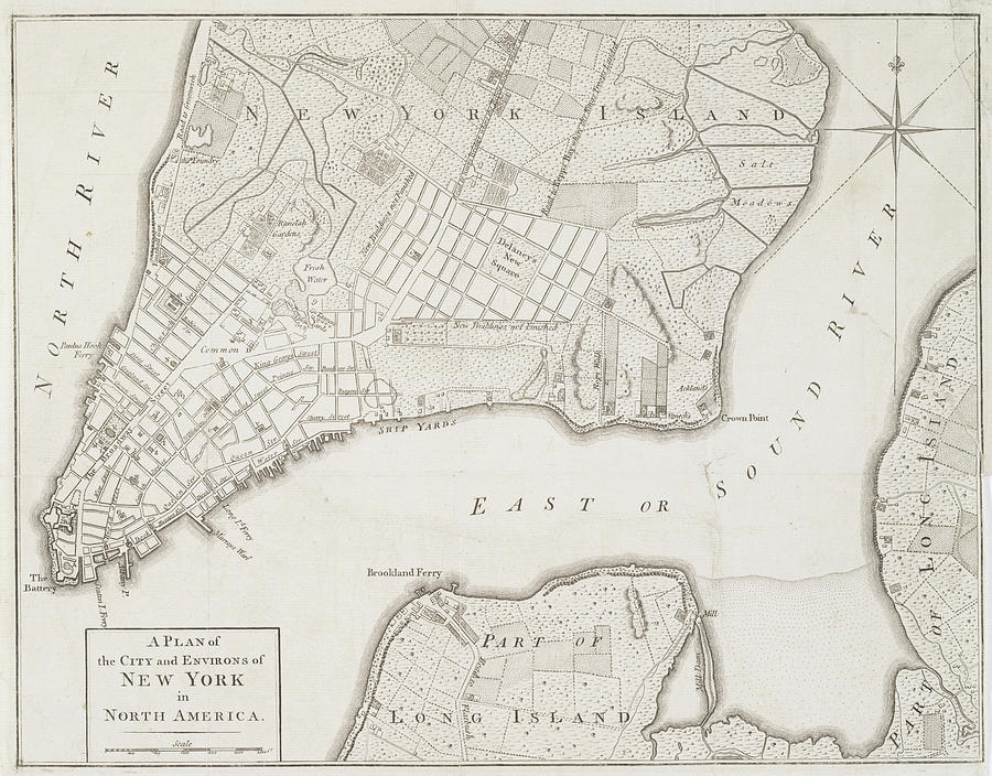 Map Of New York 1776.Old Map Of New York City 1776 By Dusty Maps