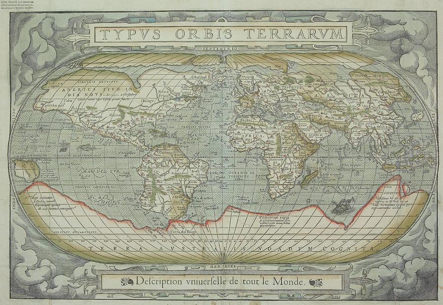 Map Of The World Photograph by Hemera Technologies