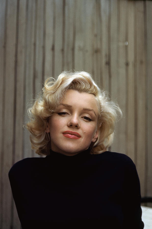 Marilyn Monroe On Patio Outside Of Her Photograph by Alfred Eisenstaedt