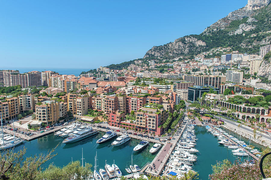 Aerial Photograph - Marina, Port De Fontvieille by Lisa S. Engelbrecht