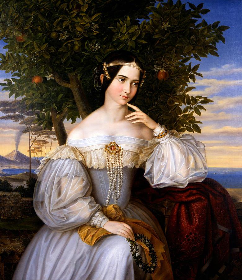 Jewish Painter Painting - Marriage Portrait Of Charlotte De Rothschild by Moritz Daniel Oppenheim