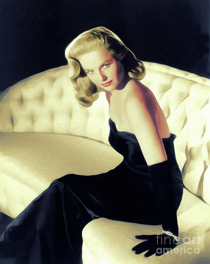 Martha Painting - Martha Hyer, Vintage Actress by John Springfield