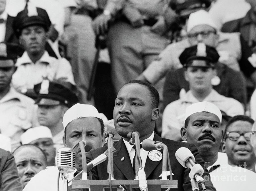 Martin Luther King Giving Dream Speech Photograph by Bettmann