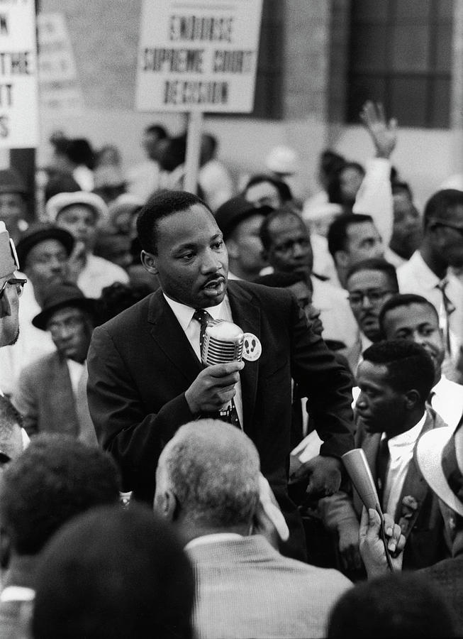 Protest Photograph - Martin Luther King Jr by Francis Miller