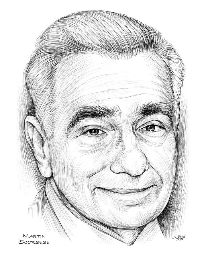 Martin Scorsese Drawing