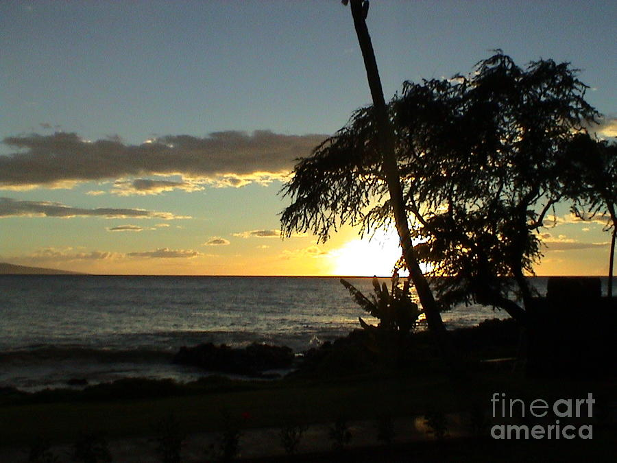 Maui Hawaii Sunset View A Hawaiian Colorful Ocean Panorama by John Shiron