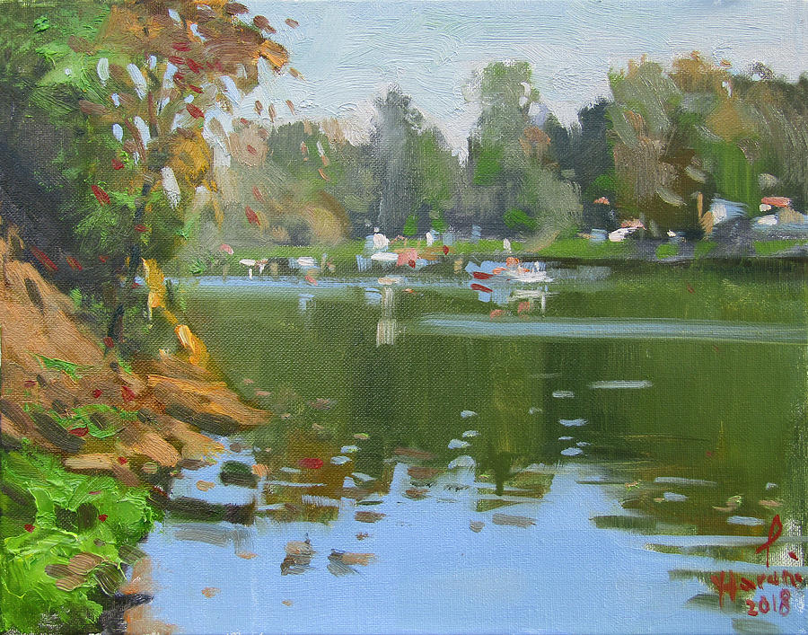 Fall Colors Painting - Mayors Park by Ylli Haruni